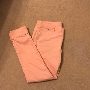 Peach colores skinny jeans